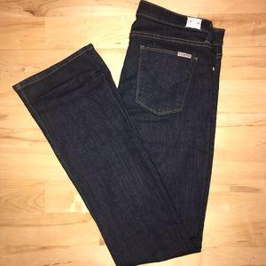 Hudson LOVE dark wash bootcut jeans